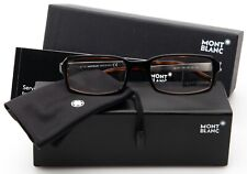 NEW MONT BLANC MB 307 005 BLACK On HAVANA EYEGLASSES GLASSES 53-19-140mm Italy