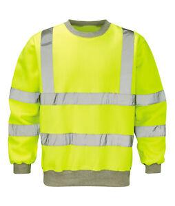 Hi Vis Hi Visibility Sweatshirt - Hi Viz Yellow - HVSS