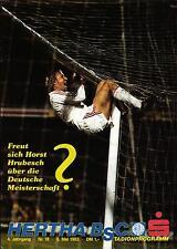 BL 82/83 Hertha BSC-Hamburger SV, 06.05.1983 - POSTER Karl-Heinz Emig