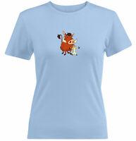 Juniors Girls Women Tee T-Shirt Gift Print Timon & Pumbaa Lion King Best Friends