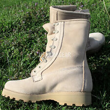 NEW Made in US Military Army ICW 527 Desert Tan Combat Goretex GTX Boots 9.5R