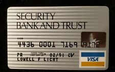 Security Bank & Trust Visa exp 1991♡Free Shipping♡cc591♡credit card