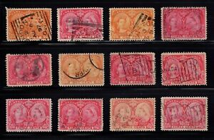 1897 Jubilee reference cancel lot sq squared circle cds orb flag NO RESERVE