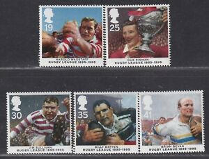 Great Britain SG 1891-1895 XF U/M 1995 Centenary of Rugby League Set of 5