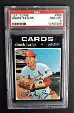 Chuck Taylor St. Louis Cardinals 1971 Topps Card #606 Psa Nm-Mt 8