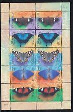 1998 BUTTERFLIES sheetlet, Mint Never Hinged