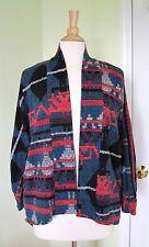 Voom by Joy Han Women's Open Front Kimono Cardigan Sweater Jacket M Medium Aztec