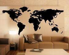 Wandtattoo Weltkarte detaill II World Map XXL Premium Deko Design Wandaufkleber