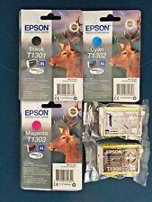 Epson Durabrite T1301/2/3/4 + extra 1304 Genuino Cartuchos De Tinta Nuevo, Iva Inc