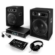 EQUIPO SONIDO DJ 800W ALTAVOCES AMPLIFICADOR MESA DE MEZCLAS USB AURICULARES