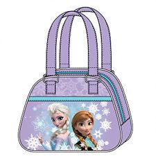 FROZEN bolso de mano en paño violeta e estampado brillo 20x15,5 cm de niño