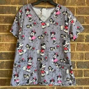 Mickey and Minnie Scrub Top, 3 Pockets