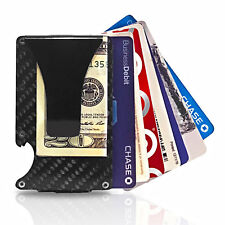 Carbon Fiber Aluminum Minimalist Front pocket Wallet w/ Money Clip / RFID Block