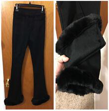 New Women Warm Elastic High Waist Velvet Thick Slim Stretch bell-bottomed Pants