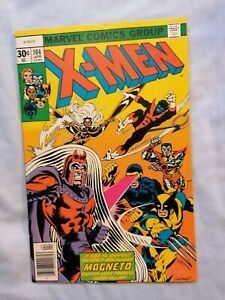 VF- (7.5) THE UNCANNY X-MEN #104 (Apr 77) Cents copy. MARVEL. 1st StarJammers