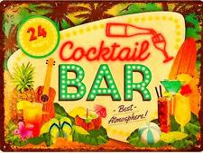 Nostalgic-Art Blechschild 30 x 40 Cocktail Bar Cocktailbar *