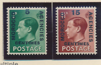 Great Britain, Offices In Morocco Stamps Scott #437 To 438, Mint Hinged