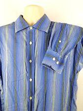 NYNE Men's Dress Shirt Size XL T Tall Long Sleeve 100% Cotton Striped Blue