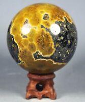 460g Raw NATURAL OCEAN JASPER QUARTZ Geode CRYSTAL sphere BALL HEALING
