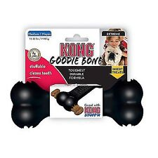 KONG Extreme Goodie Bone - Durable Chew Rubber Fetch Treat Dispensing Toy
