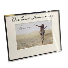 Our First  Anniversary Silver Plated Photo Picture Frame WG978