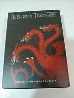 JUEGO DE TRONOS TEMPORADA 1 PRIMERA DELUXE EDIT - 5 DVD ESPAÑOL ENGLISH + EXTRAS