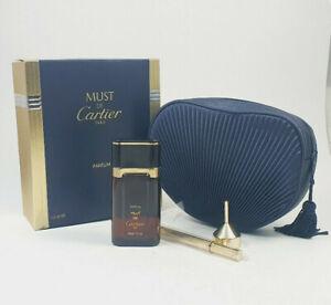 must de Cartier 30ml PARFUM + Taschenzerstäuber Set NEU RAR Vintage 1. Auflage