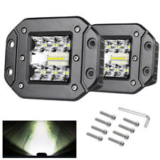 "2Pcs 5"" 39W LED Work Light Flush Mount Pods Driving Fog Off Road Car SUV"