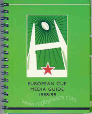 EUROPEAN CUP & SHIELD RUGBY MEDIA GUIDE 1998/9 ULSTER & MONTFERRAND WINNERS