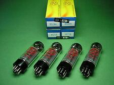 4 x EL34 JJ  ELECTRONIC factory matched quad EL 34 -> tube amp Röhrenverstärker