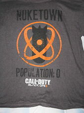 """""""Nuke Town Population 0"""" T-Shirt Long Sleeve Gamers Black OPS II Call to Duty(L)"""