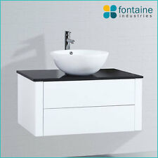Bathroom Vanity 900 Wall Hung Ceramic Basin Stone Top NEW Vanities Modern Design