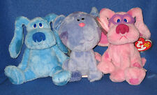 TY BLUES CLUES DOG SET BEANIE BABY - MINT with MINT TAGS