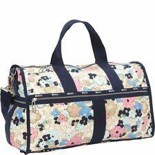 LeSportsac Women's CR Large Weekender Tote Duffle Bag in Ocean Blooms Floral