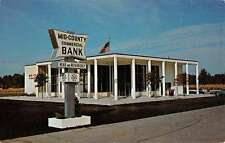 Largo Florida Mid County Commercial Bank Street View Vintage Postcard K68735