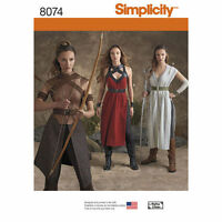 Simplicity 8074 Sewing PATTERN H5 or R5 Fantasy,Warrior Cosplay Dress Costume