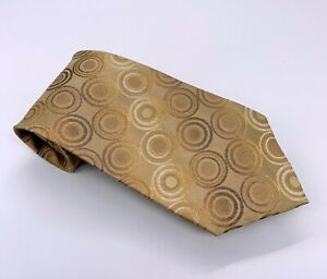 Arrow Tie Gold on Gold Polka Dot Silk 58 x 3.75 China 1800 Ties 4 Sale