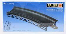 FALLER H0 1:87  TRATTO CURVO PER RAMPA / PONTE FERROVIARIO TRACK-BED ART 120475