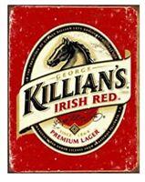 KILLIANS IRISH RED TIN SIGN AMBER RED LAGER BEER IRISH IRELAND PUB BAR KEG BREW
