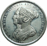 1854 Great Britain UK Queen Victoria Prince Albert CRYSTAL Palace Medal i79721
