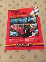 Final Lap Video Arcade Game Machine Flyer, Atari 1987 NOS