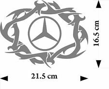 Mercedes logo word tribal truck cab body or window sticker