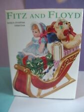 Fitz and Floyd - Teddy's Christmas Lidded Box - Nib