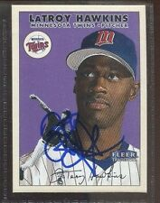 LaTroy Hawkins 2000 Fleer Tradition signed auto autographed card Twins