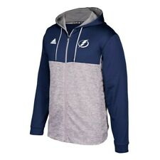 "Tampa Bay Lightning NHL Men's Blue Team Authentic Full Zip ""Blocking"" Hoodie"