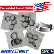 4pcs Orthodontic Pre Welded Buccal Tube Dental Molar Band For Roth 022 1st Molar