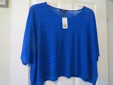 Forever 21 royal blue top, sz m, NWT