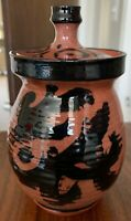 Vintage 70s Lidded Jar Stoneware Ceramic Studio Pottery Deyoe Frith Mid Century