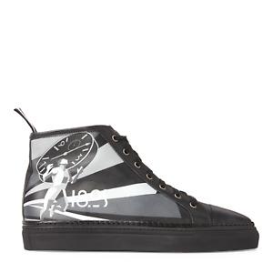 Ralph Lauren Purple Label Jeromy II Leather Art Deco Sneakers New $795