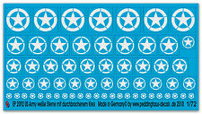 Peddinghaus 2092 1/72 US Army Stars White with Open Circle